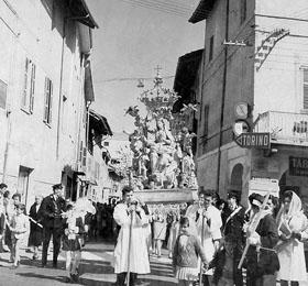 La processione del 6 maggio ´64 di Sommariva del Bosco